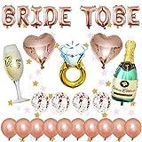 Leyeet Kit de décoration de fête pour enterrement de vie de jeune fille - Ballons en aluminium à paillettes - Ballons en latex - Décoration de fête - Beau et durable