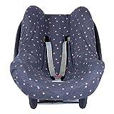 BAOBABS BCN - Funda de Algodón para Silla de Coche de Bebé | Grupo 0 - Universal | Protección transpirable y cómoda | Color Carbon Pink Old Stars