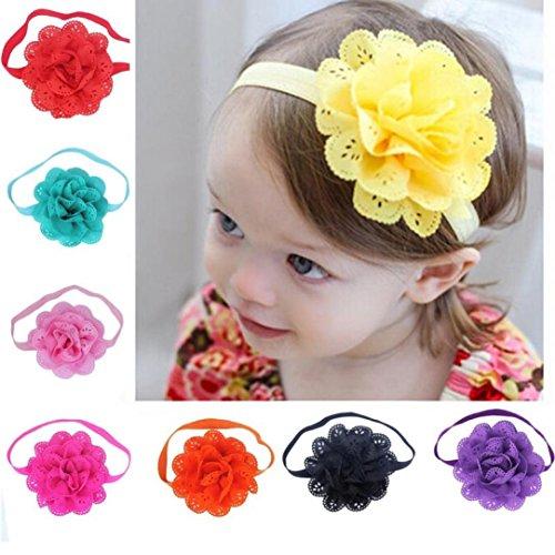 WINWINTOM - Diademas de flores para bebés y niñas (8 unidades)