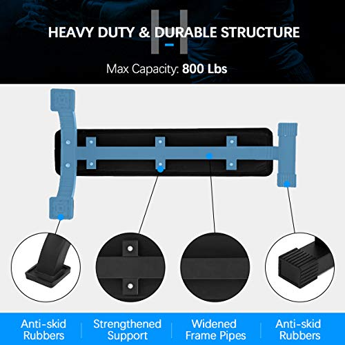 Flat Weight Bench, Doufit WB-02 Heavy Duty Exercise Bench for Home Gym, Dumbbell Workout Bench for Weight Training (Max Capacity 800 Lbs)