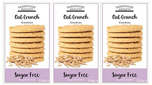 Farmhouse Biscuits - Biscotti Crunch con avena senza zucchero 150 g (confezione da 3)