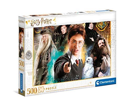 Clementoni- PZL 500 HQC Harry Potter Puzzle Adulto, Multicolor (35083)