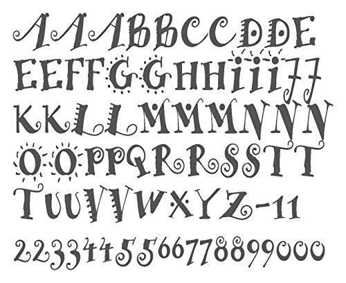 timalo® Wandtattoo Buchstaben Kinderzimmer, Kinderbuchstaben Aufkleber für Kinder | 68027-a1-dunkelgrau-M