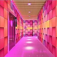 Djskhf カスタム壁画壁紙3D立体カラフルチェック柄壁紙壁画リビングルームバーホテルKtv衣料品店壁画 200X140Cm