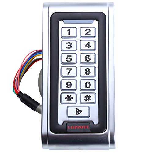 UHPPOTE Waterproof IP68 Metal Case Stand-Alone Access Control Keypad with Wiegand 26 bit Interface for 125khz RFID Card