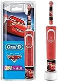 Oral-B Kids - Elektrische Zahnbürste für Kinder ab 3 Jahren, kleiner Bürstenkopf und weiche Borsten, wiederaufladbarer Akku, sensitives Putzprogramm