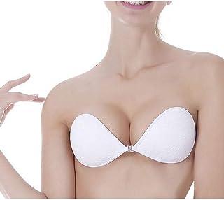 fa8a27cb63 Womens Self Adhesive Bra Push Up Invisible Bra Seamless Backless Bra Sexy  Lace Strapless Bra