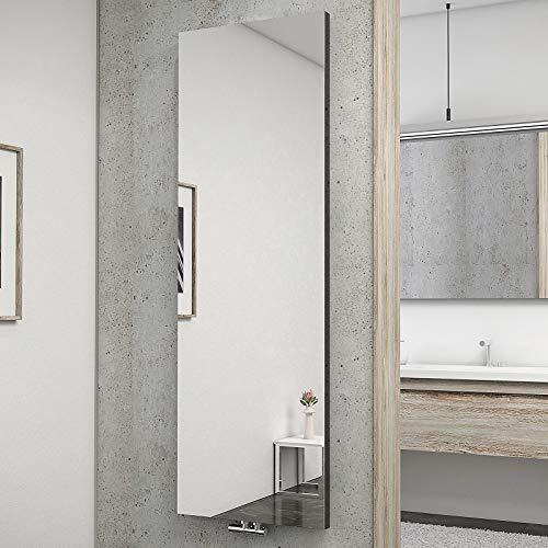 Schulte H034020 57 Heizkörper New York mit Spiegel, 180 x 60 cm, 50 mm Mittelanschluss, anthrazit, Wohnraumheizkörper für Zweirohr-System
