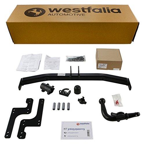 Westfalia Abnehmbare Anhängerkupplung - AHK für Renault Clio III (BJ ab 10/2005) im Set mit 13-poligem fahrzeugspezifischen Elektrosatz