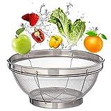 Stainless Steel Mesh Baskets,Mesh Strainer Colander,9.6 Inches Kitchen Mesh Basket for Fruit,Vegetables,Noodles,Rinse