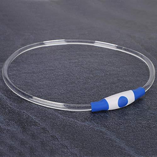 Shipenophy Collar LED Ajustable para Perros, Hace Que Las Mascotas se sientan cómodas, Collar Que Brilla intensamente Durante la Noche(S)