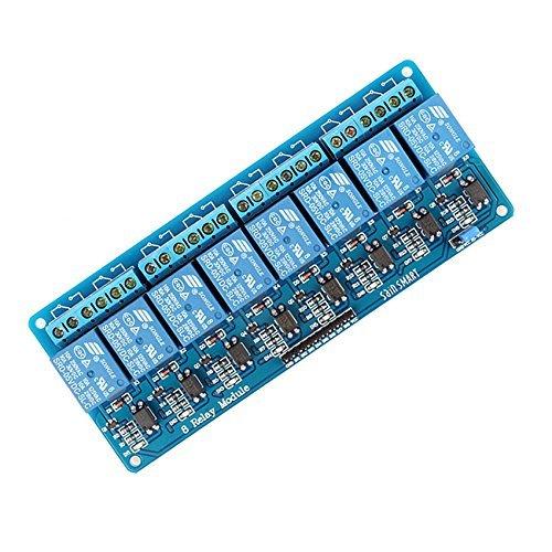 SeeKool Módulo Relé de 8 Channel DC 5V acoplador óptico adecuado para Arduino UNO R3 Kit MEGA 2560 Proyecto 1280 DSP ARM PIC AVR STM32 Raspberry Pi