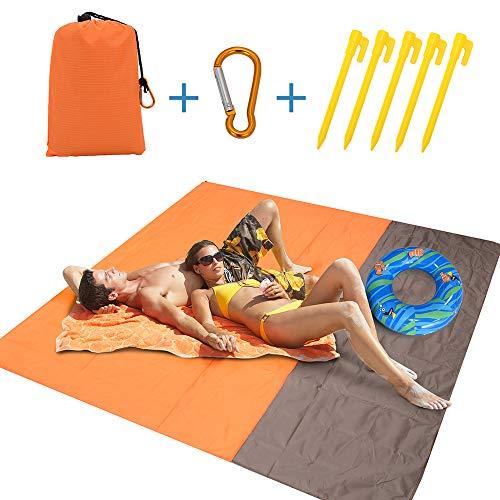 Alfombras de Playa Anti-Arena   Manta Picnic Impermeable 210 * 200cm   Manta de Playa Estera de Playa Plegable para la Playa, Picnic, Acampa y Otra Actividad al Aire Libre