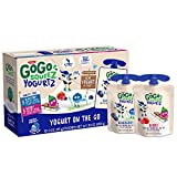 GoGo squeeZ yogurtZ on the Go made from real yogurt and fruit in portable, BPA-free, squeezable pouches Low fat yogurt pouches made from real yogurt and fruit, gluten free, certified kosher, no preservatives, no high fructose corn syrup, and contains...