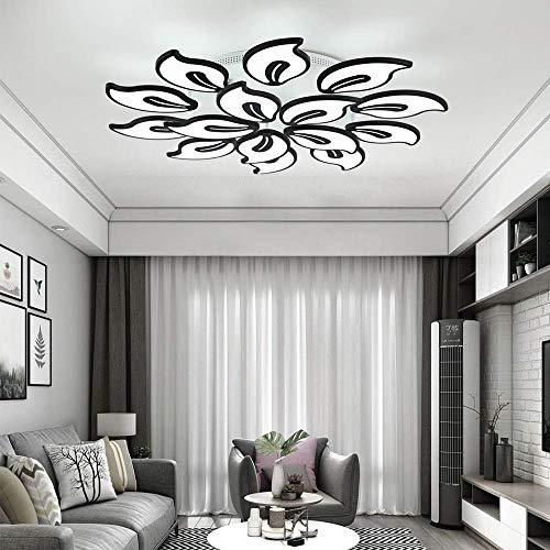 Moderne acryl plafondlamp, wit, LED, voor de woonkamer, showkamer, LED, grote kroonluchter, draadloze verbinding, Bluetooth 30 W - 150 W