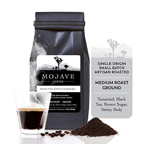 Single-Origin Burundi Kavugangoma, Medium Roast, Ground, from Premium High Altitude Grown Arabica, Keto Friendly, Small Batch Fresh Roasted (Gift Wrap Available) 12 oz - Mojave Coffee