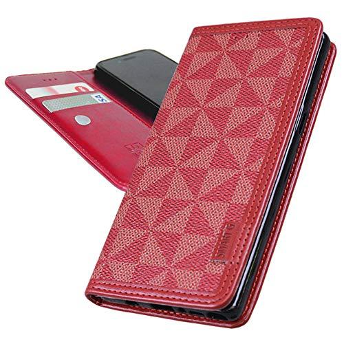 ウィンドミル模様 スリム スマホケース LG V30+ L-01K LGV35 JOJO L-02K ケース 手帳型 L-01K ケース LGV35 ケース L-02K ケース シンプル 手帳ケース エルジー エレクトロニクス L01K L02K イサイ V30プラス 手帳 カバー 吸盤付き windmill シンプル RED レッド