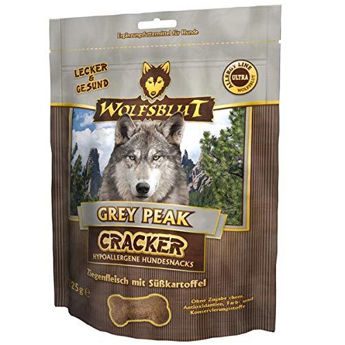 4 x 225 g de loups-sang Grey Peak Cracker pour chiens avec viande de chèvre.