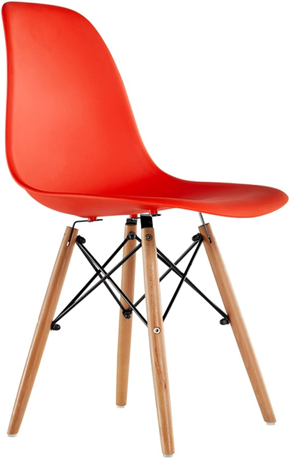 Creative Wood Chair Nordic Modern Minimalist Dining Chair Leisure Negotiation Table and Chair (color   Red)