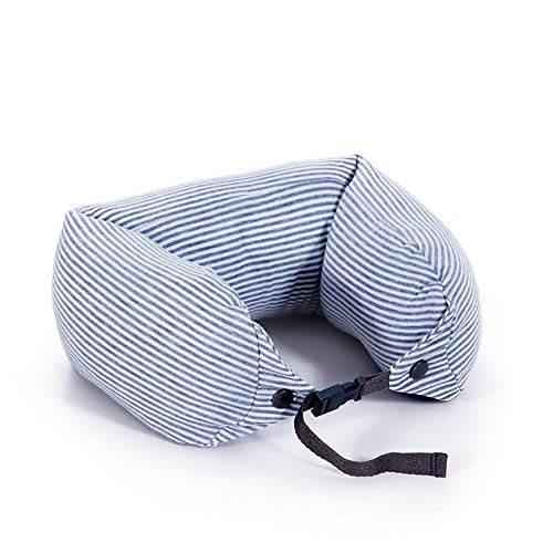 HSAW Travel Neck Cushion Travel U-shaped Neck Pillow Office Lunch Break Cotton Pillow for Camping Holiday Sleep (Color : Gray, Size : One size)
