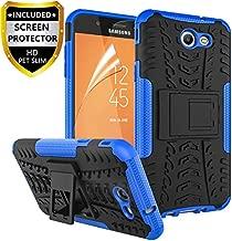 RioGree Phone Case for Samsung Galaxy J3 Luna Pro/Galaxy J3 Prime/Galaxy J3 Emerge /J3 Eclipse/J3 2017/ Amp Prime 2/Express Prime 2/Sol 2/J3 Mission, with Screen Protector Kickstand Cover Skin, Blue