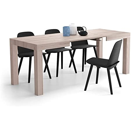 Mobili Fiver, Table Extensible Cuisine, First, Orme Perle, 120 x 80 x 76 cm, Made in Italy