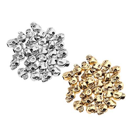 B Baosity 60 Piezas Cool Skull Vikings Beads Decoraciones para El Cabello de Moda Puños Clips Accesorios para Mujeres Hombres Trenzado de Pelo Pulsera Collar DI