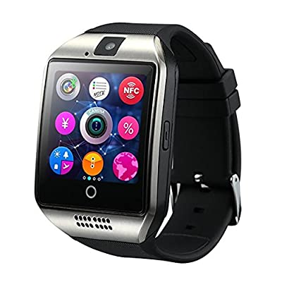 SinoPro Q18 Smart Watch, Fitness Tracker Bluetooth Wrist Watch with SIM Card and TF Card Slot Camera Message Notification Sleep Monitor Compatible with iPhone Samsung Android Smartphones