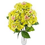 Herran Flores Artificiales De Seda Flores Violetas para Mesa Al Aire Libre Decoración De...