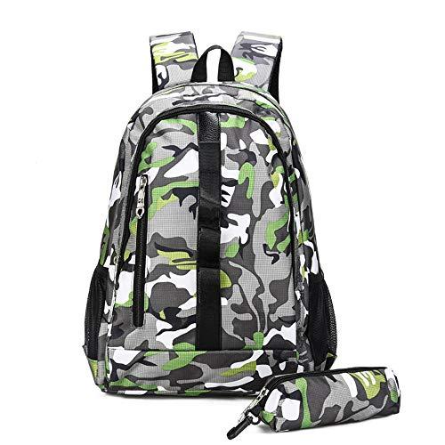 AjAC Outdoor-sport-wandelrugzak, lichte en duurzame waterdichte studententas met camouflage, laptoptas, verkrijgbaar voor mannen en vrouwen