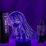 Geschenk zum Muttertag 3D Led-Licht Anime Angel Beat Schlafzimmer Dekoration Nachtlicht Geburtstagsgeschenk Zimmer Licht Acryl Led Nachtlicht Angel Beat BAJIE