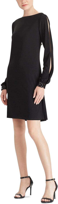 American Living Womens Embellished Bishop Sleeves Party Dress