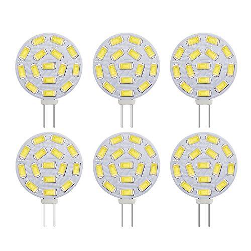 Lampadine BOGAO G4 3W LED, equivalenti a lampade alogene da 20-30 W, Base G4 AC/DC 12V, 300 LM, fascio di 120 ° Flood, Illuminazione da incasso, Illuminazione a binario, Bianco (6000K, 6pz)