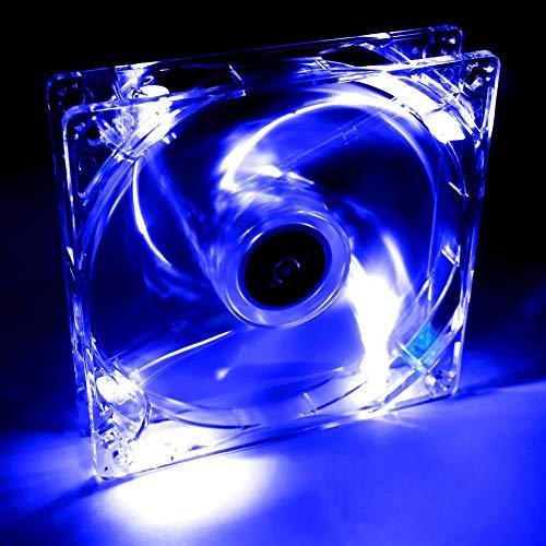 Akyga AW-12A-BL - Ventilador para PC (4 LED, 120 mm, 12 V), Color Azul