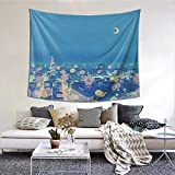 Yidzlhzs Sailor Moon Background City at Night Boutique Tapestry Wall Hanging Tapestry Vintage Tapestry Wall Tapestry Micro Fiber Peach Home Decor One Size