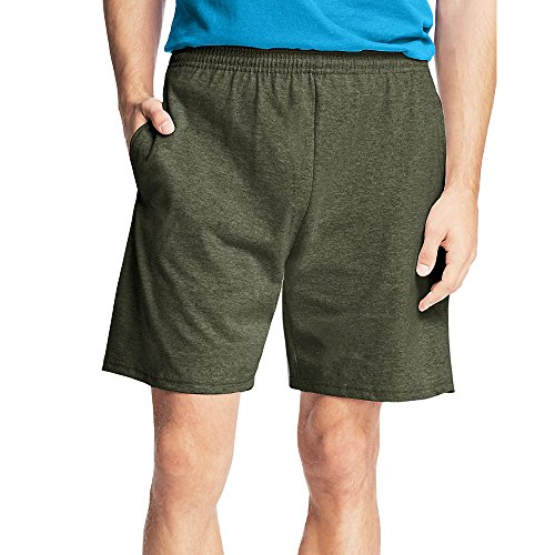 Hanes by Men's Jersey Cotton Shorts_Camo Green_L