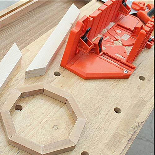Caja de inglete de almacenamiento de sierra, caja de inglete de sujeción de 14 pulgadas, caja de inglete para cortar madera, herramienta de carpintería con abrazadera utilizada en trabajos de arquitec