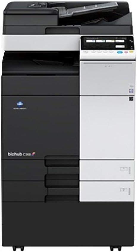 Konica Minolta Bizhub C368 A3 Color Laser Multi-Function Copier - 36ppm, Copy, Print, Scan, 2 Trays, Cabinet (Renewed)