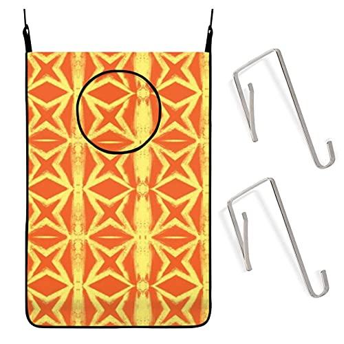 Cemento Starburst - Cesto para colgar ropa sucia, color amarillo y naranja