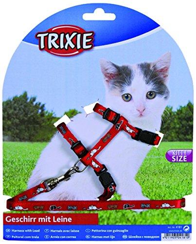 Trixie 4144 Kätzchengeschirr mit Leine, Nylon, 21–33 cm/8 mm, 1,20 m, farblich sortiert
