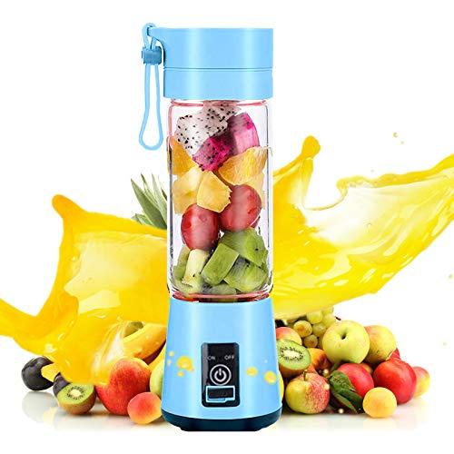 Shinyeagle Persönlicher Mixer,USB Smoothie Maker, wiederaufladbar für gemischte Smoothie-Getränke Fruchtsaft Sechs...
