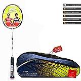 Li-Ning  SS-21 G4  Strung Badminton Racquet ( WHITE/GOLD , S2 , 85-87 grams , 28-30 lbs )