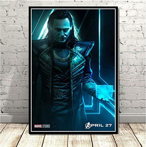 Plakat Loki Thor Dark Avengers Superheld Tom Hiddleston Plakat Und Drucke Kunst Wandbilder Für Wohnzimmer Home Decor 50X70Cm No Frame