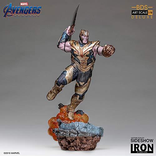Estatua Thanos 36 cm. Vengadores: Endgame. BDS Art Scale. Deluxe Version. con luz. Escala 1:10. Iron Studios