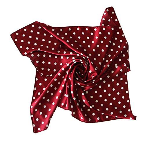 RdChicLog bufanda cuadrada de color puro pañuelo de cuello de lunares
