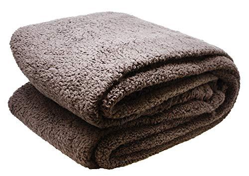Close Up Henry´s Wohndecke - Hochwertige XXL Decke - flauschig weiches Fleece, Lammflor Plüsch (Dicke Ausführung), Sherpa Optik - warm - 150 x 200 cm - Braun/Taupe