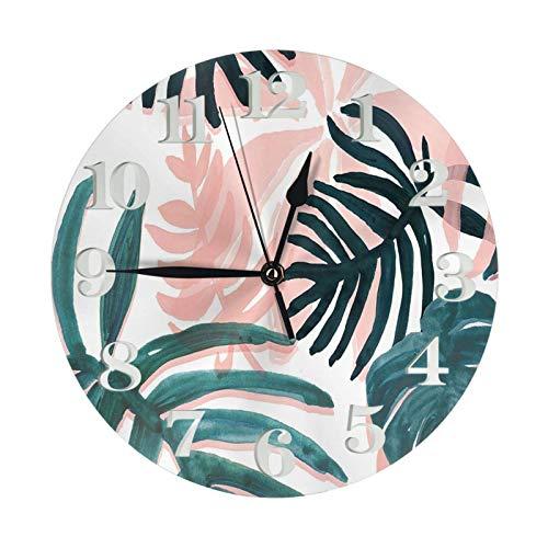 ZCHW Reloj de Pared Redondo, Bonito Fondo estético, Reloj de PVC, Reloj silencioso sin tictac, Reloj de Pared Circular Decorativo para decoración del hogar