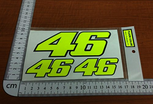 Ecoshirt VZ-PDOA-EMYW Pegatinas 46 Rossi Fluor Yellow Pg01 Stickers Aufkleber Decals Autocollants Adesivi