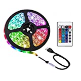 LED USB con lampada, decorazione d'interni fai da te, retroilluminazione TV, telecomando a infrarossi a 24 pulsanti può controllare remotamente la striscia di LED, 3.28 piedi RGB 5050 lampada 16 color