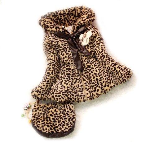 SOPO Infantil Niñas Chaqueta de Invierno Abrigo de Piel Sintética de Leopardo...
